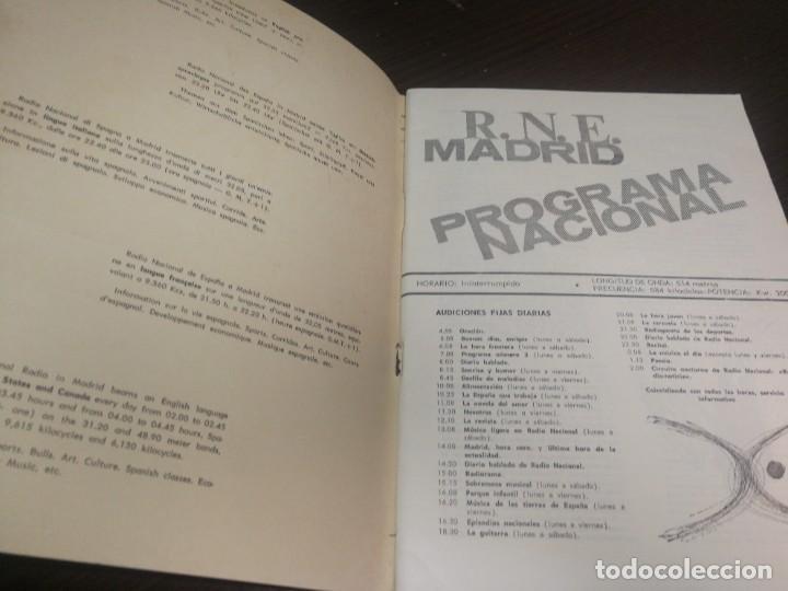 Radios antiguas: BOLETÍN OFICIAL RADIO NACIONAL DE ESPAÑA (1965) - Foto 3 - 224974320