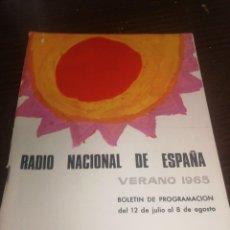 Radios antiguas: BOLETÍN OFICIAL RADIO NACIONAL DE ESPAÑA (1965). Lote 224974640