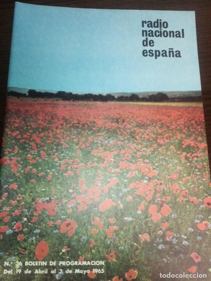 BOLETÍN OFICIAL RADIO NACIONAL DE ESPAÑA (1965) (Radios, Gramófonos, Grabadoras y Otros - Catálogos, Publicidad y Libros de Radio)