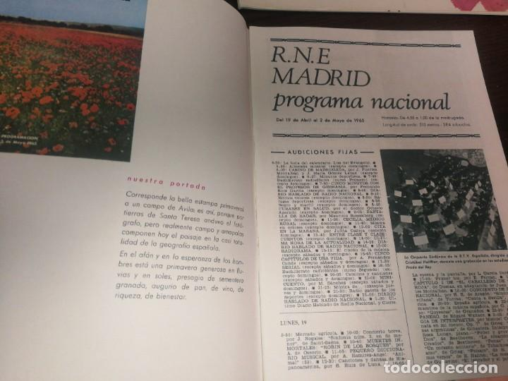 Radios antiguas: BOLETÍN OFICIAL RADIO NACIONAL DE ESPAÑA (1965) - Foto 2 - 224974945