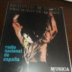 Radios antiguas: BOLETÍN OFICIAL RADIO NACIONAL DE ESPAÑA (1965). Lote 224975890
