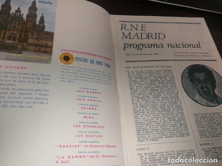 Radios antiguas: BOLETÍN OFICIAL RADIO NACIONAL DE ESPAÑA (1965) - Foto 2 - 224976125