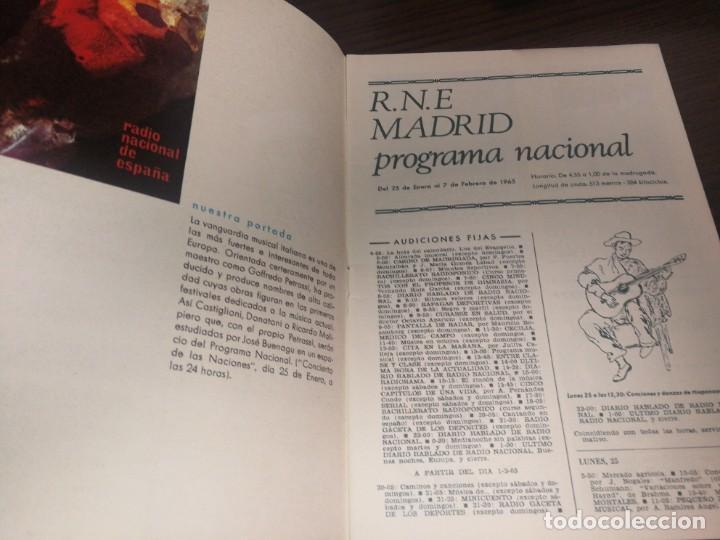Radios antiguas: BOLETÍN OFICIAL RADIO NACIONAL DE ESPAÑA (1965) - Foto 2 - 224976707