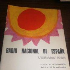Radios antiguas: BOLETÍN OFICIAL RADIO NACIONAL DE ESPAÑA (1965). Lote 224976961