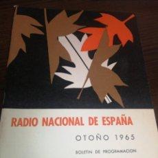 Radios antiguas: BOLETÍN OFICIAL RADIO NACIONAL DE ESPAÑA (1965). Lote 224977420