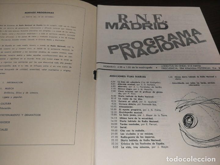 Radios antiguas: BOLETÍN OFICIAL RADIO NACIONAL DE ESPAÑA (1965) - Foto 2 - 224977420