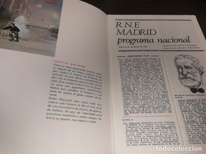 Radios antiguas: BOLETÍN OFICIAL RADIO NACIONAL DE ESPAÑA (1965) - Foto 2 - 224977613