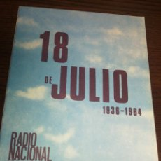 Radios antiguas: BOLETÍN OFICIAL RADIO NACIONAL DE ESPAÑA (1964). Lote 224977880