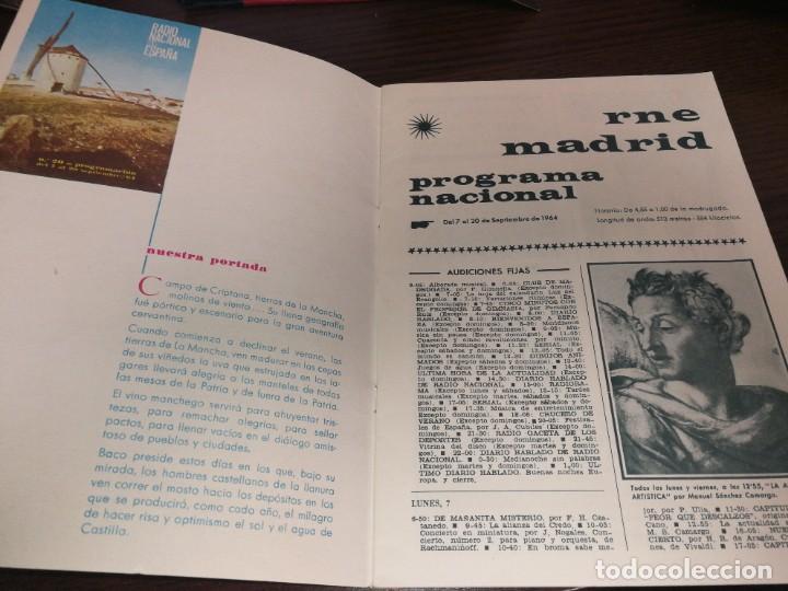 Radios antiguas: BOLETÍN OFICIAL RADIO NACIONAL DE ESPAÑA (1964) - Foto 2 - 224979093