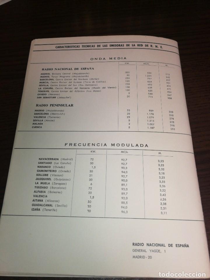 Radios antiguas: BOLETÍN OFICIAL RADIO NACIONAL ESPAÑA 1966 - Foto 6 - 225079313
