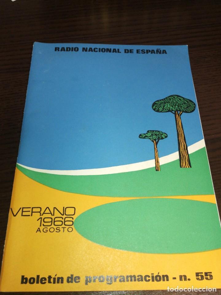 BOLETÍN OFICIAL RADIO NACIONAL ESPAÑA 1966 (Radios, Gramófonos, Grabadoras y Otros - Catálogos, Publicidad y Libros de Radio)