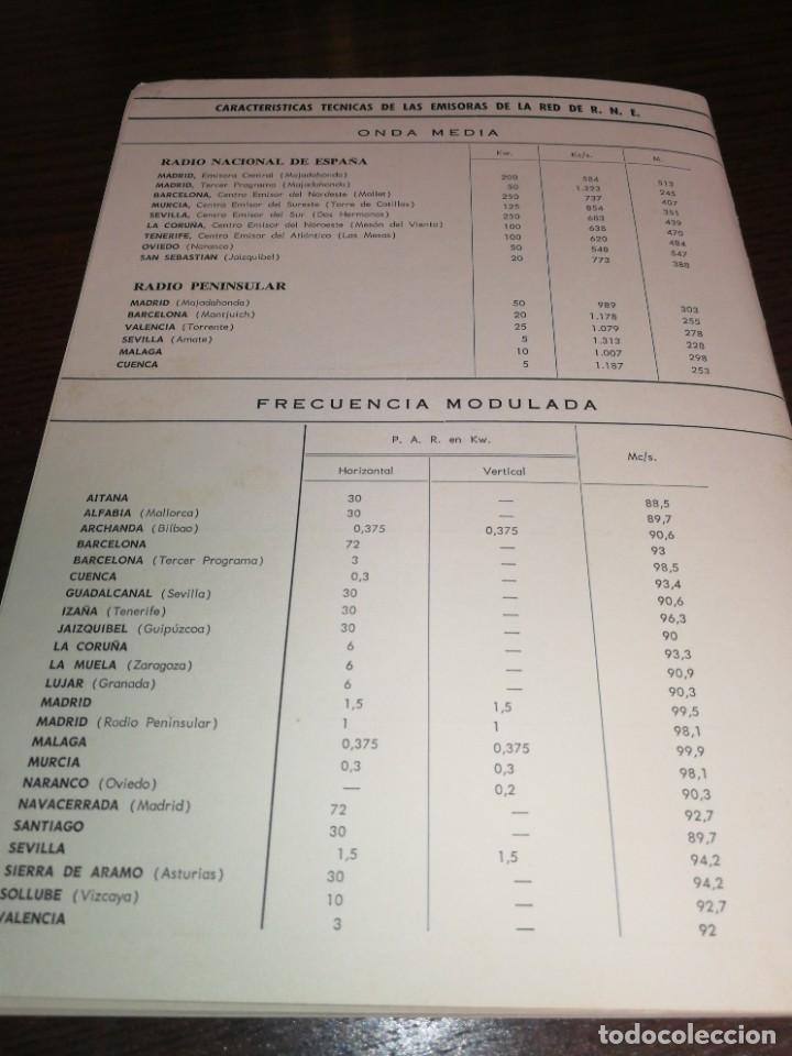 Radios antiguas: BOLETÍN OFICIAL RADIO NACIONAL ESPAÑA 1966 - Foto 5 - 225079397