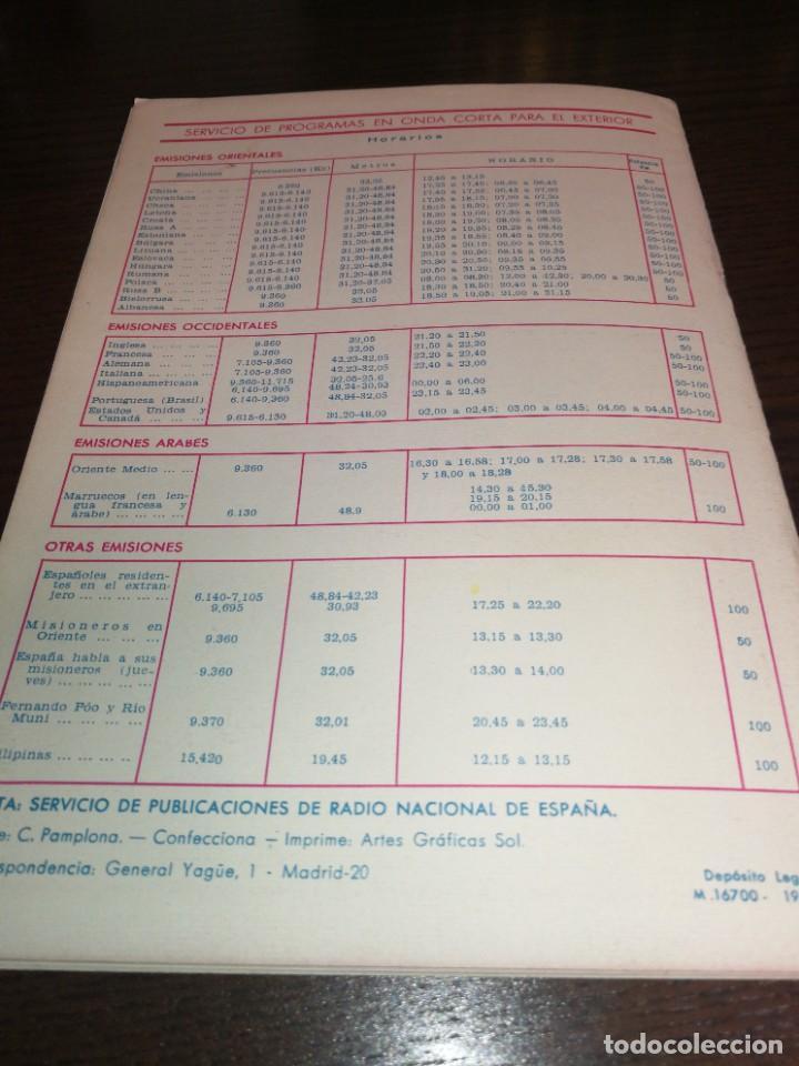 Radios antiguas: BOLETÍN OFICIAL RADIO NACIONAL ESPAÑA 1964 - Foto 6 - 225079541