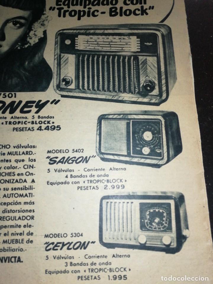 Radios antiguas: INVICTA RADIO, ANTIGUA PUBLICIDAD (1951), GRAN FORMATO 31CM X 26CM. - Foto 2 - 225503653