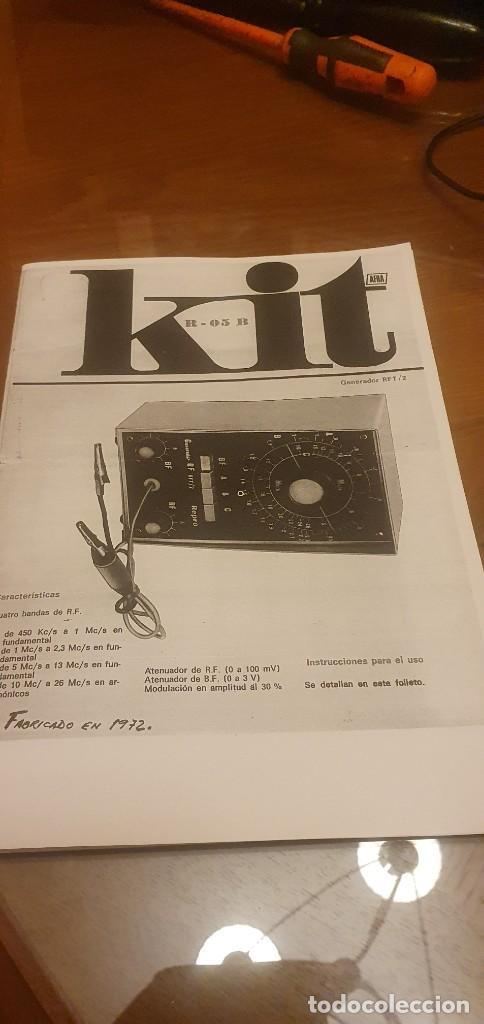 ESQUEMA GENERADOR RFT/2 (Radios, Gramófonos, Grabadoras y Otros - Catálogos, Publicidad y Libros de Radio)