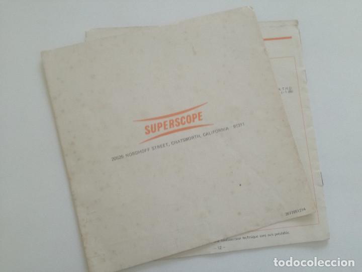 Radios antiguas: SUPERSCOPE MODEL A-245 // MANUAL DE INSTRUCCIONES AMPLIFCADOR STEREO USA AÑOS 60 // A245 - Foto 6 - 226441885