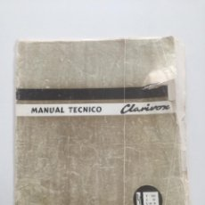 Radios antiguas: CLARIVOX TV P 580 - C 66 - C66 B - MANUAL TECNICO 1966 // TELEVISOR CON PLATINAS. Lote 227692685
