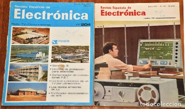 2 REVISTA ESPAÑOLA DE ELECTRÓNICA - ENERO Y NOVIEMBRE DE 1971 (Radios, Gramófonos, Grabadoras y Otros - Catálogos, Publicidad y Libros de Radio)