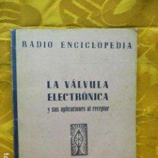 Radios antiguas: RADIO ENCICLOPEDIA VOLUMEN XI. LA VALVULA ELECTRONICA Y SUS APLICACIONES AL RECEPTOR. BRUGUERA 1944.. Lote 229276440