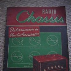 Radios antiguas: DOS REVISTAS RADIO CHASSIS.. Lote 229674360