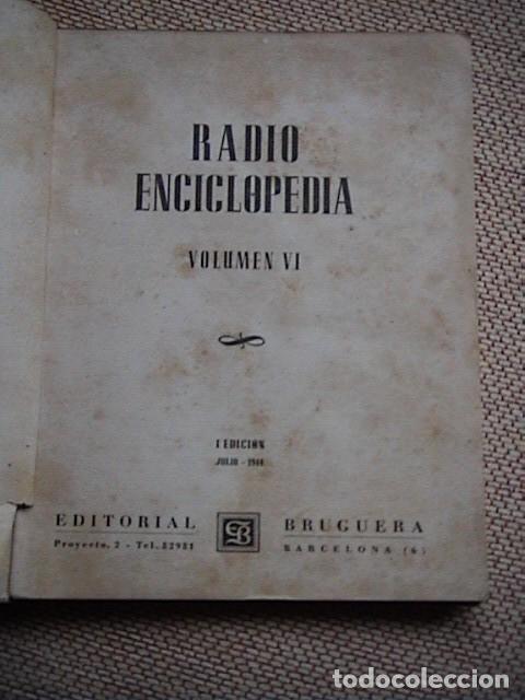 Radios antiguas: Lote 8 tomos de Radio Enciclopedia. R. J. Darkness - Foto 3 - 229680515