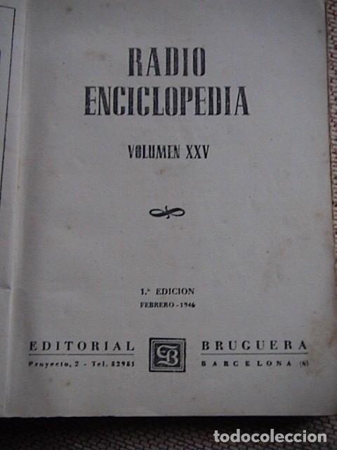 Radios antiguas: Lote 8 tomos de Radio Enciclopedia. R. J. Darkness - Foto 5 - 229680515