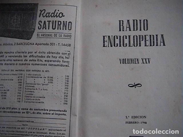 Radios antiguas: Lote 8 tomos de Radio Enciclopedia. R. J. Darkness - Foto 6 - 229680515