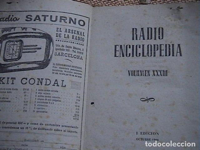 Radios antiguas: Lote 8 tomos de Radio Enciclopedia. R. J. Darkness - Foto 8 - 229680515