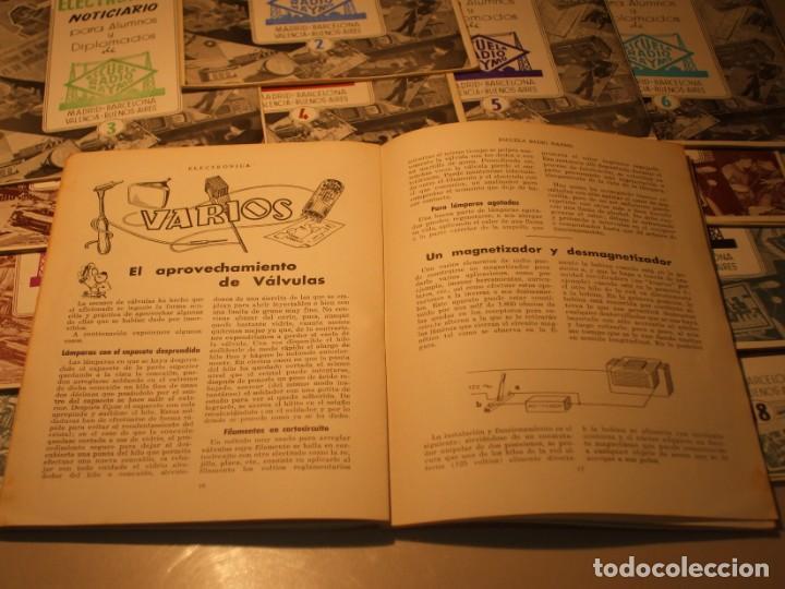 Radios antiguas: 18 REVISTAS COLECCIÓN COMPLETA ELECTRÓNICA NOTICIARIO ESCUELA RADIO MAYMÓ, - Foto 5 - 67693601