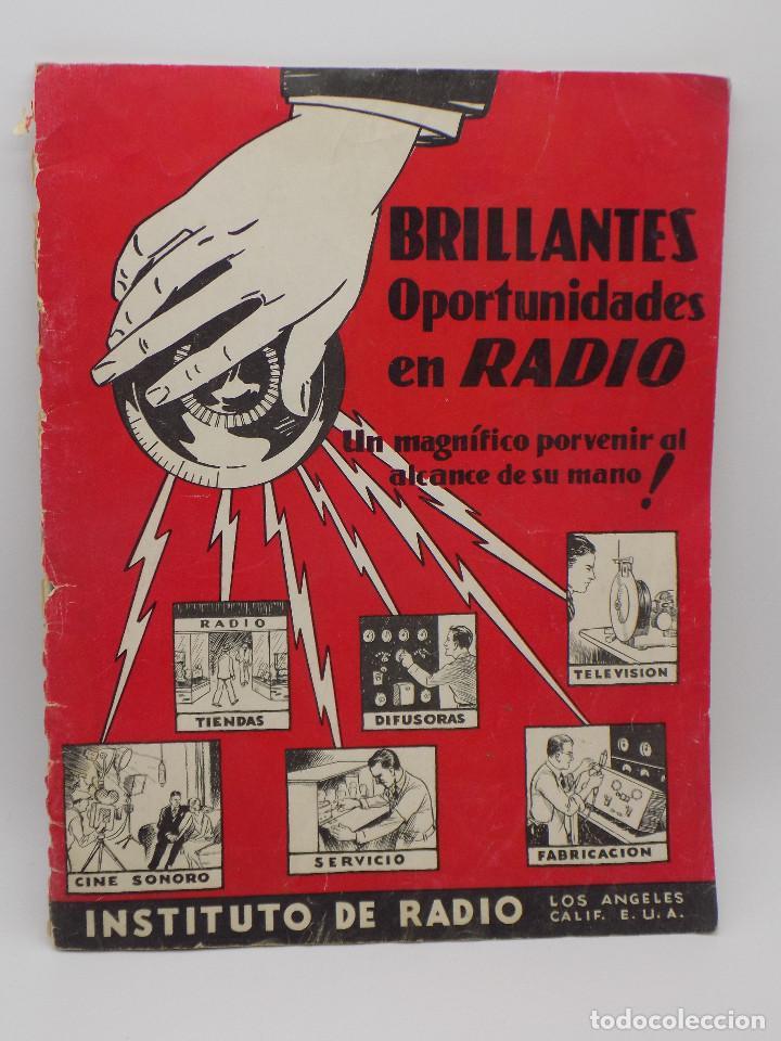 INSTITUTO DE RADIO LOS ANGELES- CALIFORNIA- CURSO DE RADIO (Radios, Gramófonos, Grabadoras y Otros - Catálogos, Publicidad y Libros de Radio)