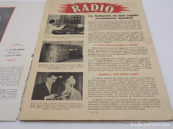 Radios antiguas: INSTITUTO DE RADIO LOS ANGELES- CALIFORNIA- CURSO DE RADIO - Foto 2 - 232955950