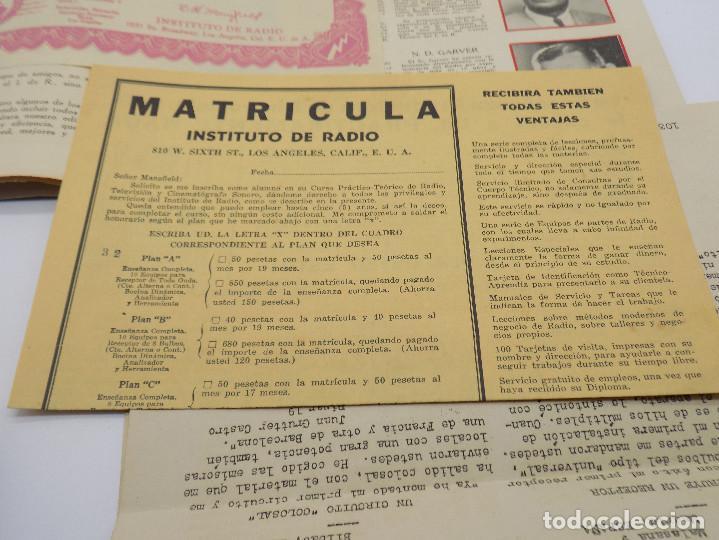 Radios antiguas: INSTITUTO DE RADIO LOS ANGELES- CALIFORNIA- CURSO DE RADIO - Foto 4 - 232955950