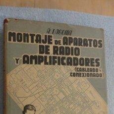 Radios antiguas: LAGOMA.MONTAJE APARATOS DE RADIO Y AMPLIFICADORES.CABLEADO Y CONEXION.BRUGUER.1949. Lote 233377195