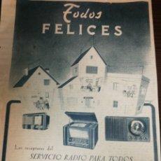 Radios antiguas: (1951) RADIO ANTIGUA, PUBLICIDAD, GRAN FORMATO DE PÁGINA 37 X 27 CM. Lote 233761660
