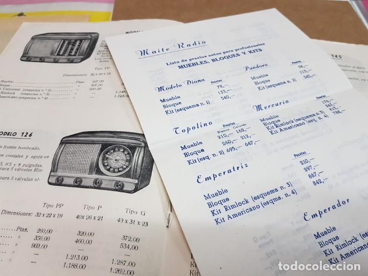 Radios antiguas: ANTIGUO CATALOGO APARATOS DE RADIO MAITE MADRID 1951 - Foto 4 - 234488935