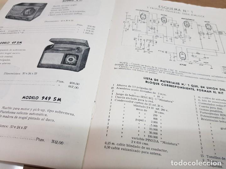 Radios antiguas: ANTIGUO CATALOGO APARATOS DE RADIO MAITE MADRID 1951 - Foto 5 - 234488935