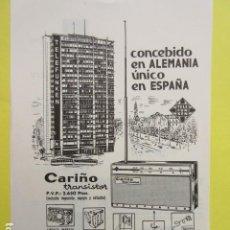 Radios antiguas: PUBLICIDAD 1964 - COLECCION ELECTRONICA - TELEFUNKEN TRANSISTOR CARIÑO 2650 PESETAS. Lote 234668040