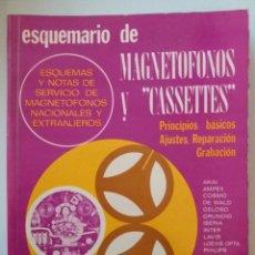 Radios antiguas: ESQUEMARIO DE MAGNETOFONOS Y CASSETTES II 1973. Lote 235502645
