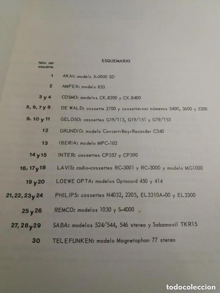 Radios antiguas: ESQUEMARIO DE MAGNETOFONOS Y CASSETTES II 1973 - Foto 2 - 235502645