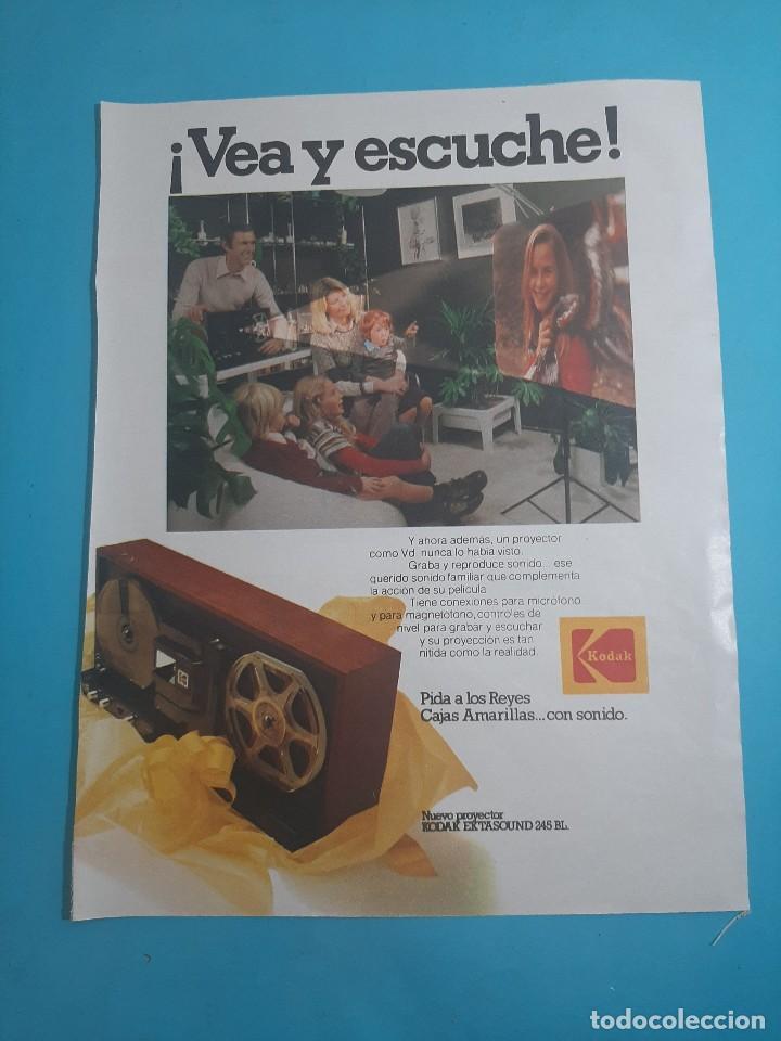 KODAK - PROYECTOR -1 PAG.34 X 26 CM - PUBLICIDAD AÑO 1975 - RECORTE - VER DETALLES (Radios, Gramófonos, Grabadoras y Otros - Catálogos, Publicidad y Libros de Radio)
