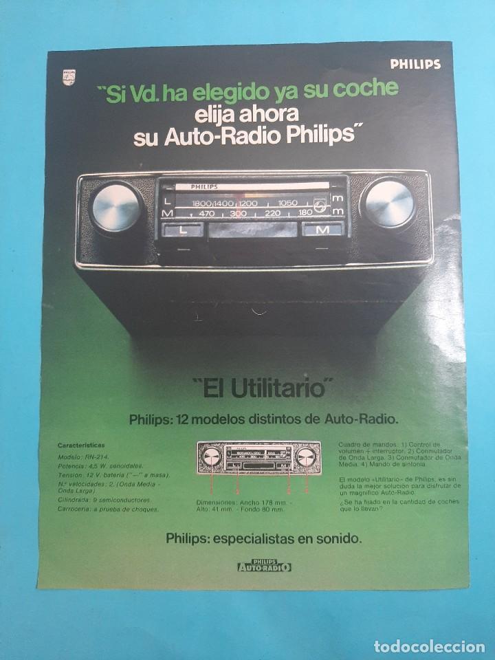 PHILIPS -AUTO RADIO -1 PAG.34 X 26 CM - PUBLICIDAD AÑO 1975 - RECORTE - VER DETALLES (Radios, Gramófonos, Grabadoras y Otros - Catálogos, Publicidad y Libros de Radio)