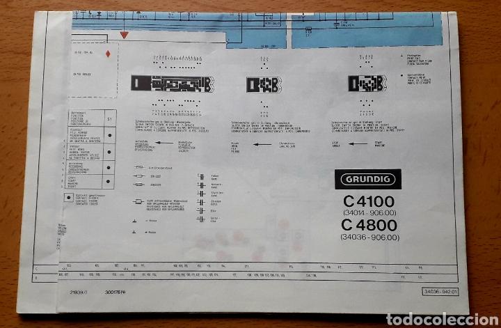 MANUAL RADIO GRUNDIG C4100 C4800 (Radios, Gramófonos, Grabadoras y Otros - Catálogos, Publicidad y Libros de Radio)
