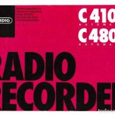 Radios antiguas: INSTRUCCIONES DE USO RADIO GRUNDIG C4100 C4800. Lote 236359115
