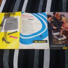 Radios antiguas: DIFÍCIL CATÁLOGO RADIO DE WALD. Lote 236419230