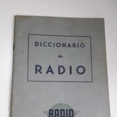 Radios antiguas: DICCIONARIO RADIO VIEJO CONSULTAR STOCK ENVIO GRATIS. Lote 236582900