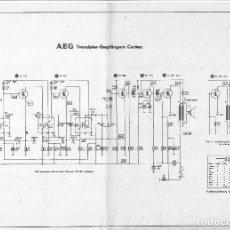 Radios antiguas: 138 ESQUEMAS DE AUTORADIO Y TOCADISCOS -TRANSISTORES Y RECEPTORES - LIQUIDACIÓN POR CIERRE DE PÁGINA. Lote 239725540