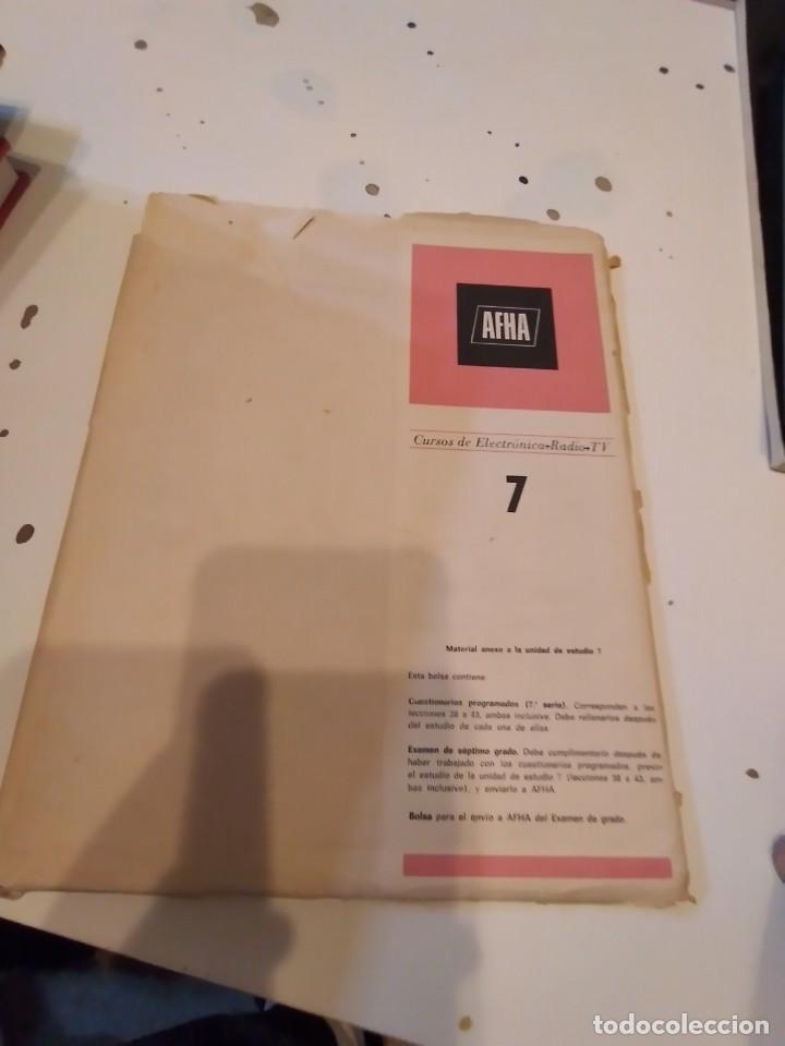G-68 LIBRO AFHA CURSOS DE ELECTRONICA RADIO TV 7 (Radios, Gramófonos, Grabadoras y Otros - Catálogos, Publicidad y Libros de Radio)