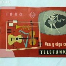 Radios antiguas: TELEFUNKEN 1960 CATÁLOGO MODELOS RADIO, TOCADISCOS, TELEVISORES, 24 PAG. A COLOR. Lote 243460955