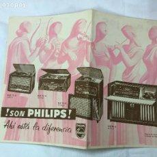 Radios antiguas: PHILIPS AÑOS 50-60 CATÁLOGO MODELOS RADIO, AUTO-RADIO,. Lote 243463980