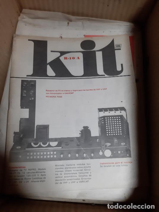 Radios antiguas: AFHA LOTE CURSO DE ELECTRONICA RADIO Y TV DEL AÑO 1965, TOMOS 8 Y 12, CON KITS, PLANOS Y UN EXAMEN - Foto 5 - 243579250